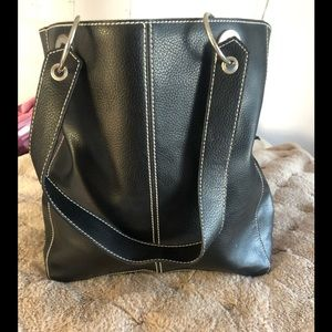 Stylish black tote